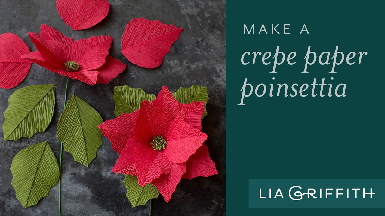 How to make a crepe paper flower poinsettia youtube how to make a crepe paper flower poinsettia mightylinksfo