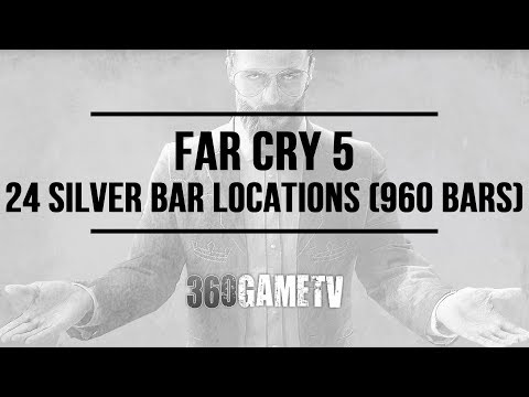Far Cry 5 24 Silver Bar Locations (960 Silver Bars in total) - How to easily get Silver Bars