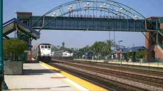 Railfanning SO CAL - Riverside - Train 8 of 17 - Metrolink 881 Departs  June 14, 2013