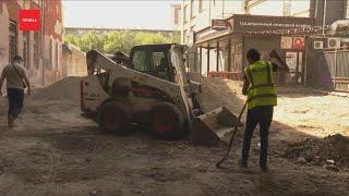 Власти проверили ремонт переулка за памятником Поздееву