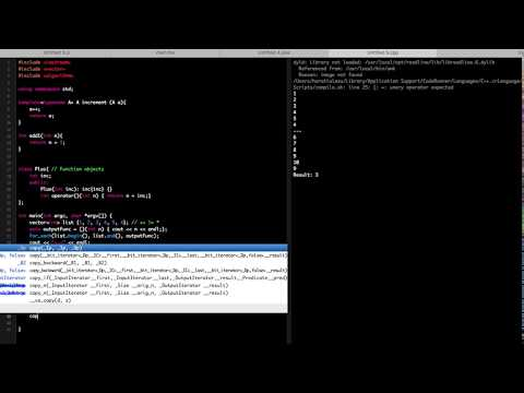 C++ STL Algorithm Tutorial (Iterators, Function Objects, Lambda and more!)