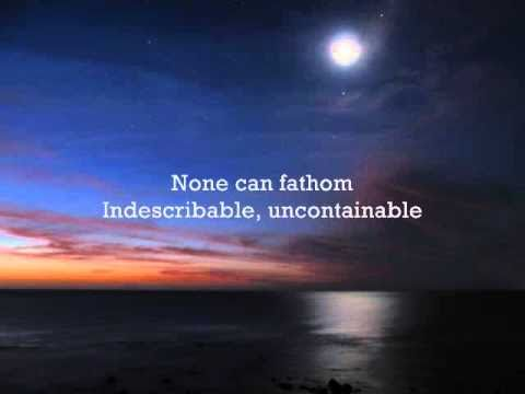 Indescribable - Instrumental with lyrics