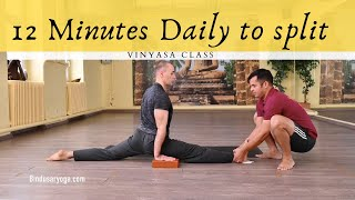 Split stretch workout - Hanumansana in 30 days
