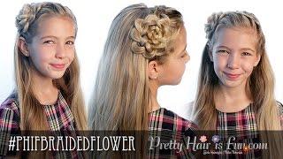 how to braided headband flower   pretty hair is fun