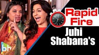 Juhi chawla | shabana azmi's hilarious rapid fire about shah rukh | aamir | farhan akhtar