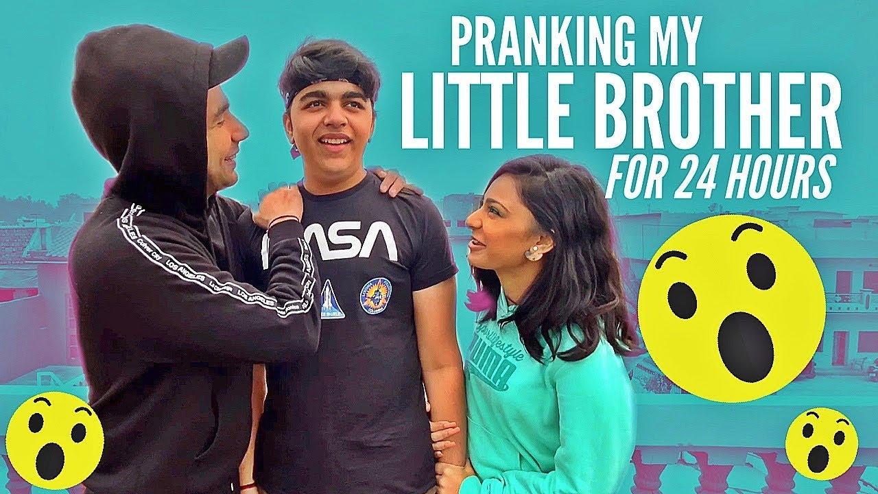 PRANKING MY LITTLE BROTHER FOR 24 HOURS | Rimorav Vlogs ...