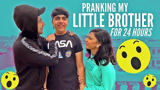 PRANKING MY LITTLE BROTHER FOR 24 HOURS | Rimorav Vlogs