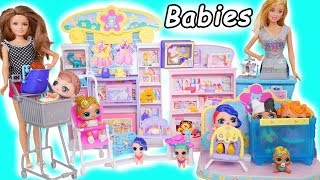 LOL Surprise Confetti Pop Series 3 Shopping with Barbie + Unboxing Ultra Rare Lil Sisters Dolls!
