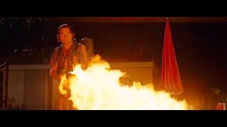 Леонардо Ди Каприо СЖИГАЕТ нацистов из огнемета Однажды в голливуде концовка