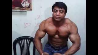 indian bodybuilder shiv kumar posing