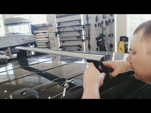 Установка багажной системы Terra Grip-Fix с поперечными планками Wing на авто со штатными местами.