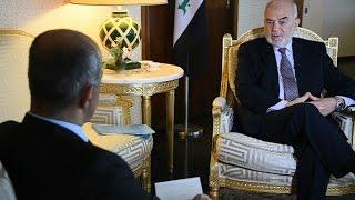 لقاء قناة الميادين بالدكتور ابراهيم الجعفري وزير خارجية العراق في مدبنة جنيف السويسرية
