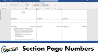 Create Sections and Custom Page Numbering for a Business Report in Word