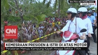 Gambar cover Melihat Kemesraan Presiden & Istri di Tanah Papua