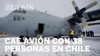 Cae avión en Chile con 38 personas a bordo.