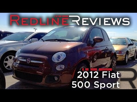 2012 Fiat 500 Sport Review, Walkaround, Start Up & Rev, Exhaust