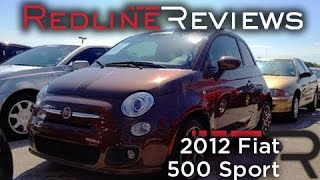 2012 Fiat 500 Sport Review, Walkaround, Start Up & Rev, Exhaust