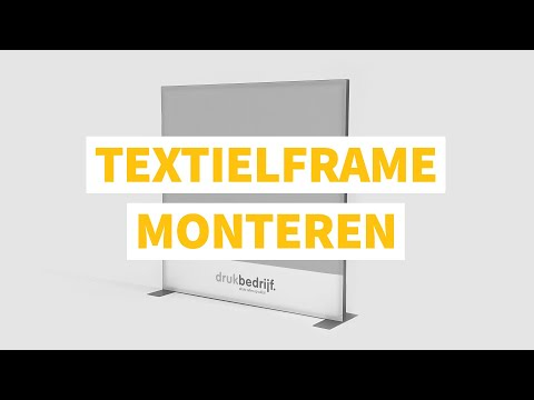 Textielframe monteren - Drukbedrijf