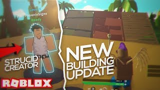 Trying the NEW ISLAND ROYALE BUILDING UPDATE with the CREATOR OF STRUCID **new codes** (Roblox)