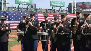 TOR@BOS: U.S. Marine Corp Band performs anthem