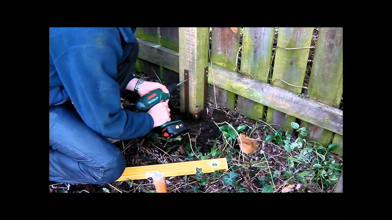 Fence Post Repair How To Fix Broken Leaning Fence Posts