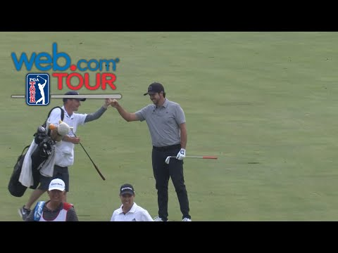 Oscar Fraustro holes-out for eagle on No. 17 at United Leasing