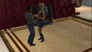 The sims dance to kenyan music
