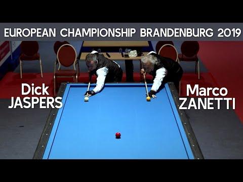 3-Cushion European Championship Brandenburg 2019 - Dick Jaspers vs Marco Zanetti