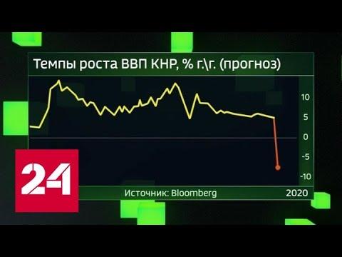 Минусовые осложнения. Коронавирус бульдозером прошелся по экономике Китая - Россия 24