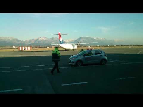 Air Serbia ATR 72-500 taxiing in Tirana International Airport