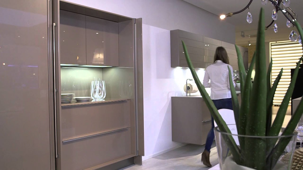 Roll Up Cabinet Doors Kitchen Bench Style Tables Haecker Kitchen, German, Made - Pocket Youtube
