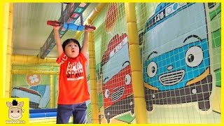 Tayo the little bus indoor playground for kids and family fun play at kids cafe | MariAndKids Toys