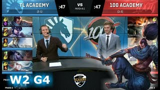 Video Liquid Academy vs 100 Thieves Academy | Week 2 of S8 NA Academy League Spring 2018 | TLA vs 100A download MP3, 3GP, MP4, WEBM, AVI, FLV Agustus 2018