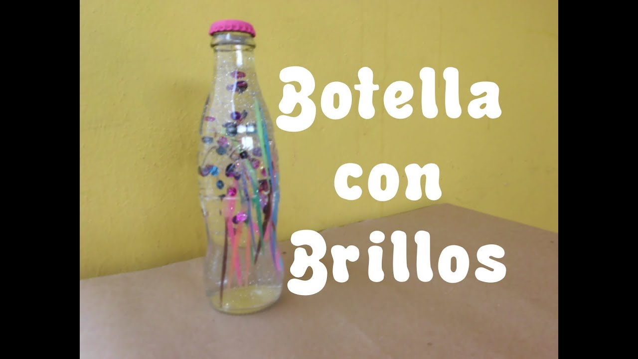 Botella de vidrio con brillos regalo decoraci n youtube - Como decorar botellas de vidrio ...
