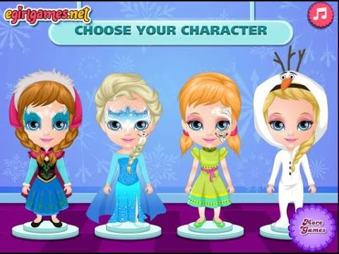 frozen face painting games