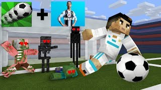 Monster School: Soccer League Challenge With Cristiano Ronaldo- Minecraft Animation