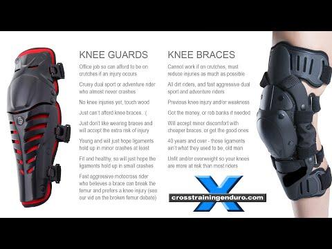 KNEE GUARDS VS KNEE BRACES?: dirt rider knee injuries