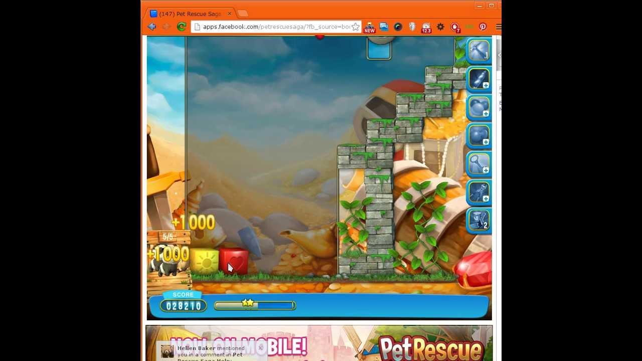 Pet Rescue Saga Level 280 Cheats and Tips