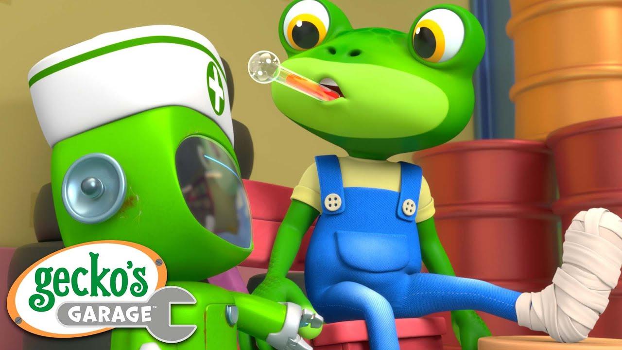 Gecko Gets a BOO BOO! | Gecko's Garage | Truck Videos | Cartoons For Kids