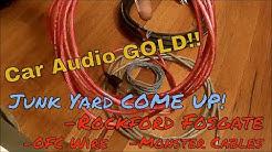 Rockford Fosgate Amp Kit. & Hi-Fi RCA's JUNKYARD Come Up!