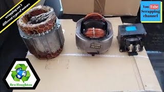 scrapping out 3 different types of motors to determine their value