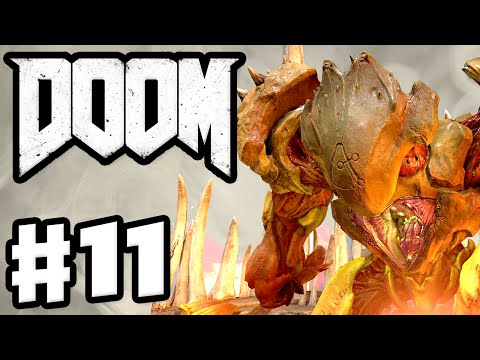 DOOM - Gameplay & Campaign Walkthrough Part 11 - Hell Guard Boss Fight! (Doom 4 Gameplay PC)