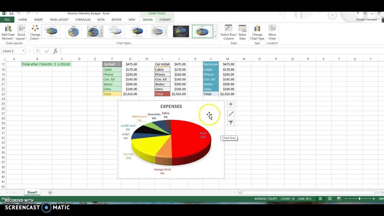 Excel Pi