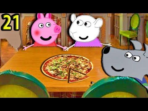 Мультики Свинка Пеппа  Сьюзи и Энди едят пиццу  Пеппа призналась  Мультфильмы для детей на русском - Видео приколы смотреть
