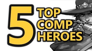 Top 5 Competitive Heroes (Overwatch) August 2016