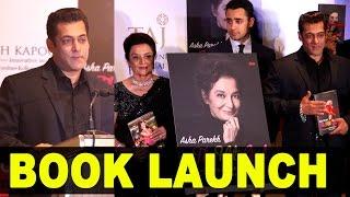 Salman Khan unveiling Asha Parekh's autobiography 'The Hit Girl'