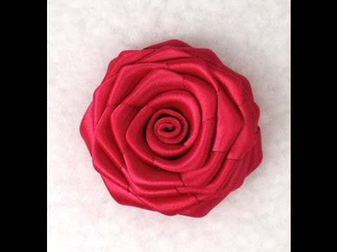 Diy Ribbon Rose Tutorial How To Make Youtube