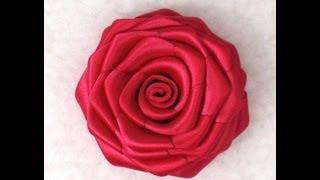 Enjoy! It's Fun! Learn Tutorial How to Make Ribbon Rose, DIY Blog f...