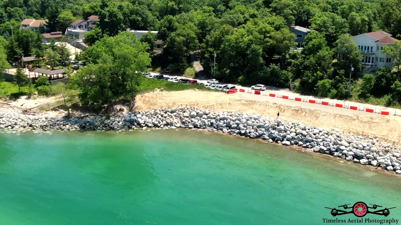 Beverly Shores Indiana 4th Of July 4K Shoreline Tour Drone Footage