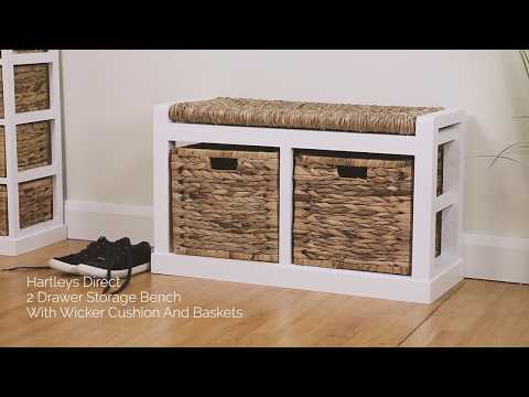 hartleys-direct-2-drawer-storage-bench-with-wicker-cushion-and-baskets